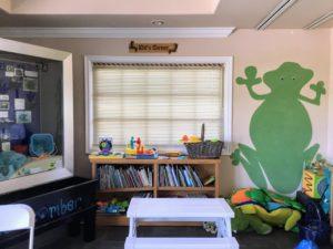 Kid's Corner bookshelves table