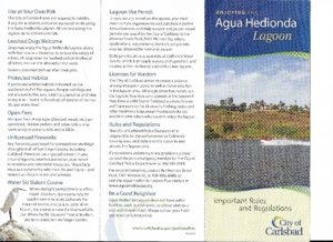 Agua Hedionda Lagoon pamphlet information
