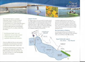 Agua Hedionda Lagoon pamphlet with map