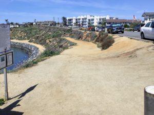 Dirt area beginning Hubbs Trail