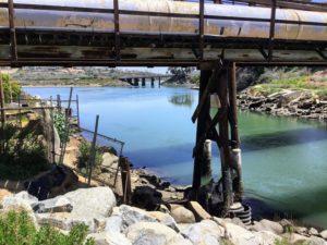 under bridge looking toward mid-lagoon