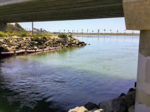 View under bridge toward west lagoon