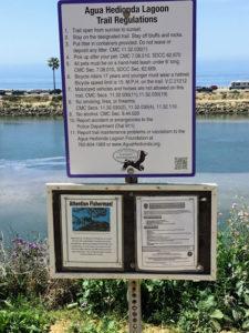 Agua Hedionda Lagoon Trail Regulation Sign