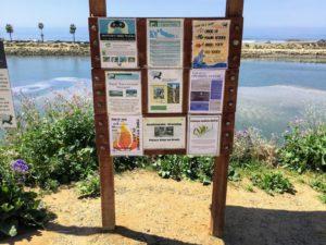 Trailhead sign information Agua Hedionda Lagoon
