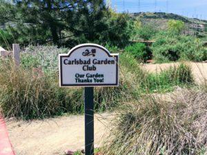 Carlsbad Garden Club Sign