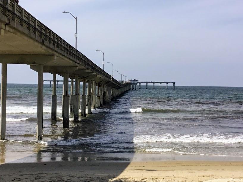 Ocean Beach Pier north T San Diego Fishing Piers