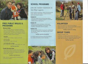 San Elijo Lagoon Conservancy Environmental Education Brochure