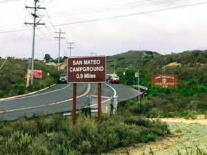 San Mateo Campground Sign Panhe Nature Trail