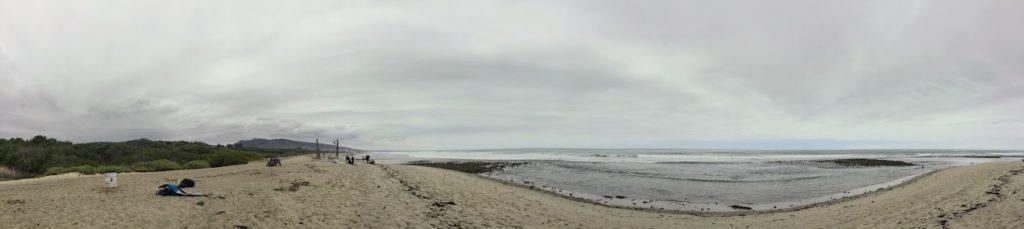 Lowers Trestles Beach Panoramic