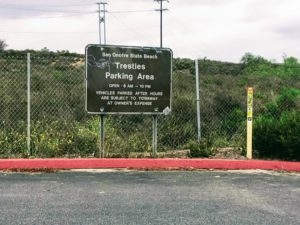 Trestles Beach Parking Lot Sign