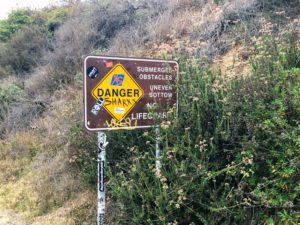 Trestles Danger Sign on Beach Trail