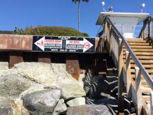 City of Del Mar Dog Rules sign posted