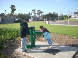 Coronado Dog Run Beach Water Fountains