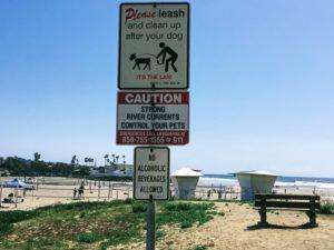 Del Mar Dog Sign Dog Beach