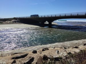 Highway bridge over Los Penasquitos Lagoon