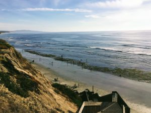 San Elijo State Beach bluff view
