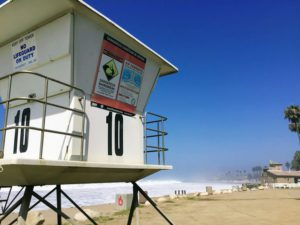 San Onofre Beach Camp Pendleton Lifeguard tower sandy shore