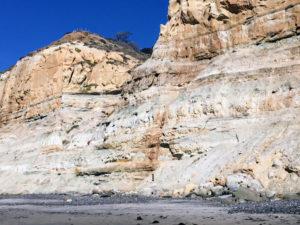 Torrey Pines Sandstone Bluffs beach view