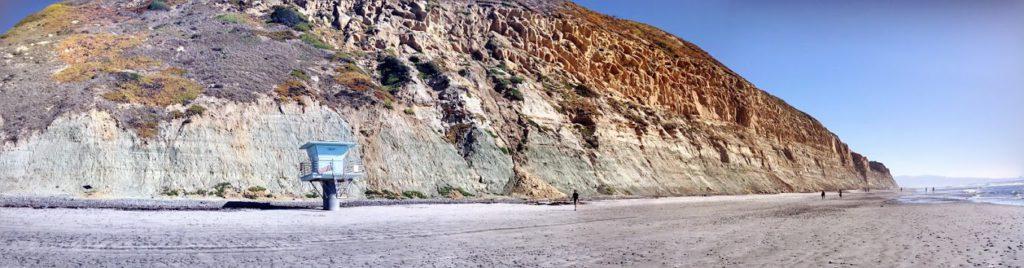 Torrey Pines State Beach Panoramic bluffs