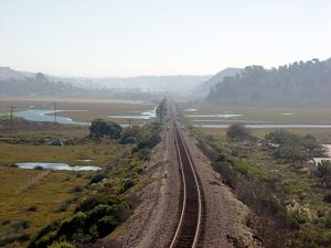 Train track over Los Penasquitos Lagoon