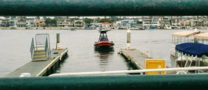 Rigid Inflatable Boat coming into dock