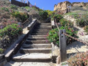 Bluff Overlook Stairs Del Mar North Beach