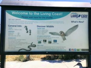Information Sign living coast discovery center