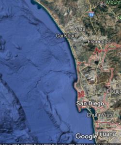 San Diego Coastline Google Mao
