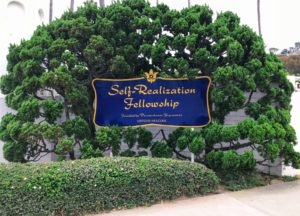 Self Realization Fellowship Center entrance sign