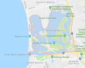 Mission Bay Park Google Map