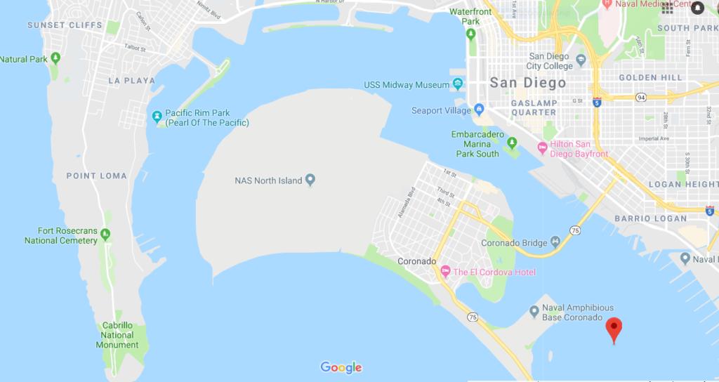 San Diego North Bay Map San Diego Bay
