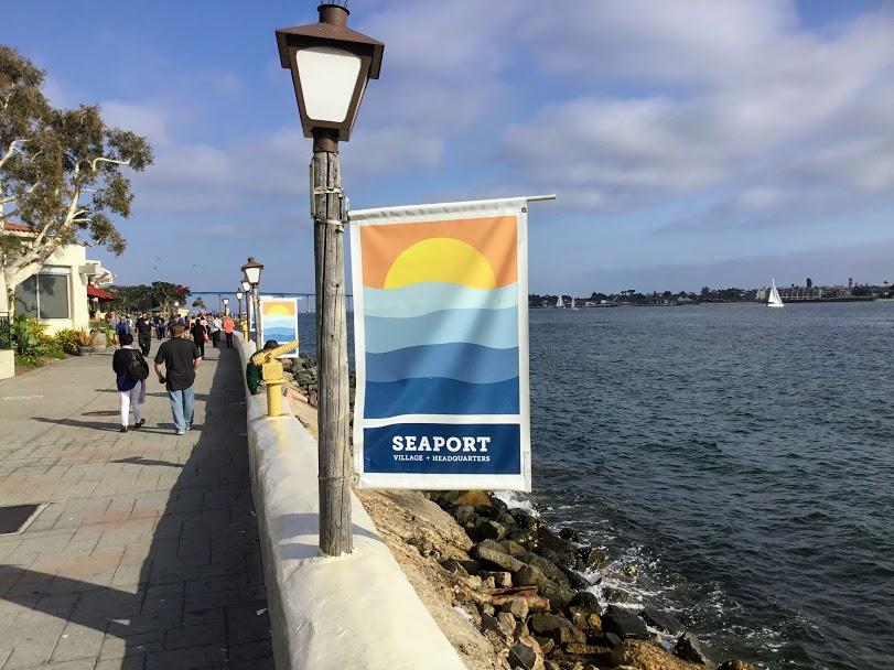 Seaport Village Walkway San Diego Bay