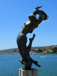 Shelter Island Statue north point opening San Diego Bay