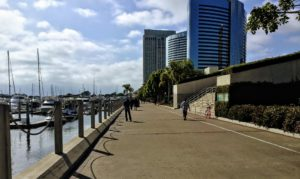 South Embarcadero walkway san diego bay