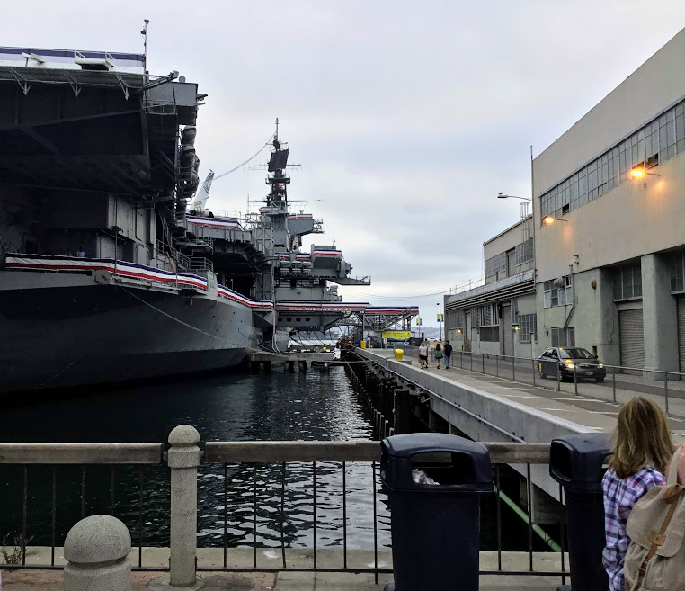 USS Midway Museum Entrance San Diego Bay