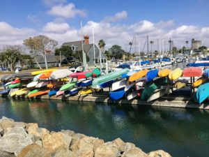Oceanside Harbor North rental boats piled