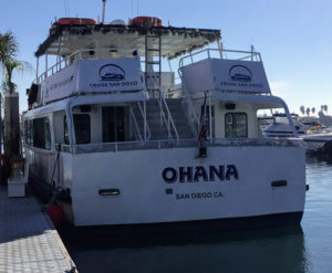 Ohana Mission Bay Tours double decker boat
