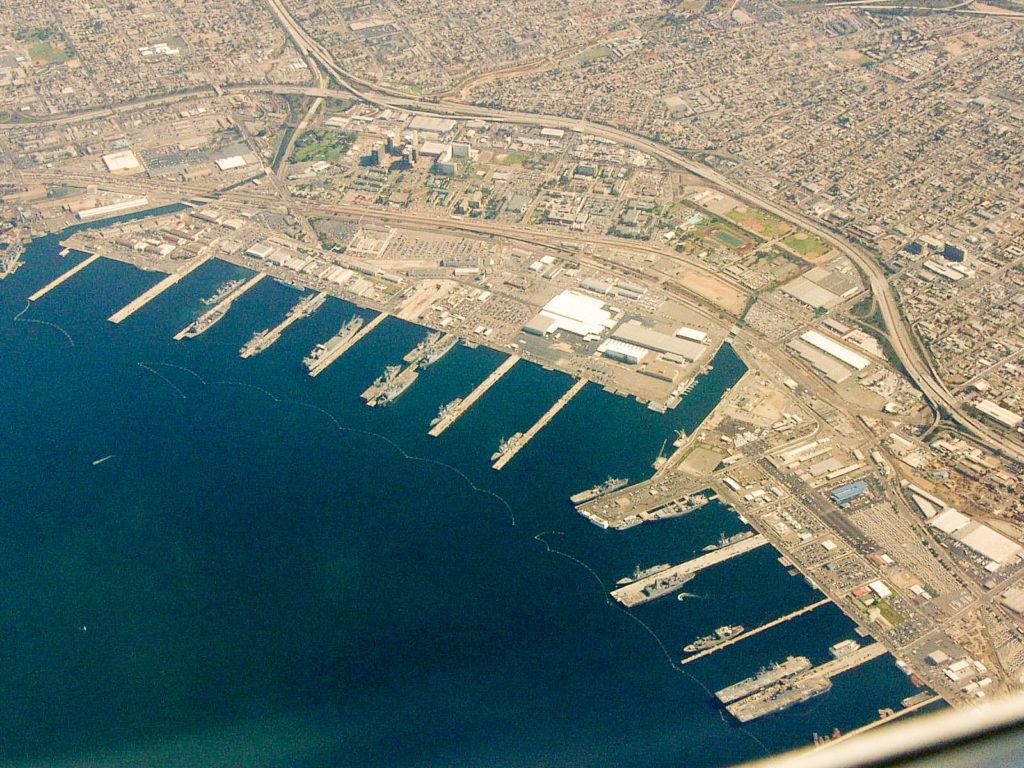 San Diego Naval Base San Diego Bay