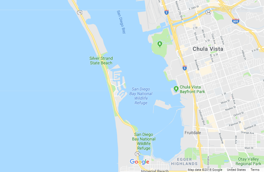 South San Diego Bay Map
