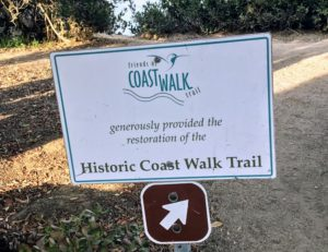 Historic La Jolla Coast Walk Trail Sign