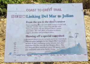 Coast to Crest Trail Info Sign San Dieguito Lagoon