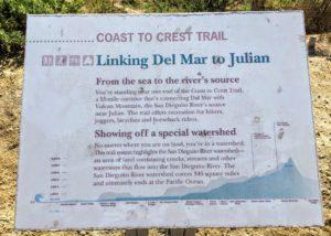 Coast to Crest Trail Info Sign San Dieguito Lagoon