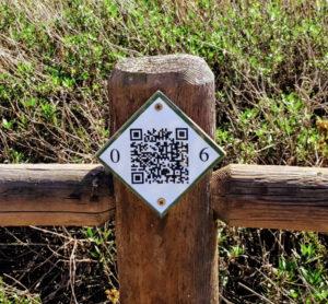 QR code post Coast to Crest Trail