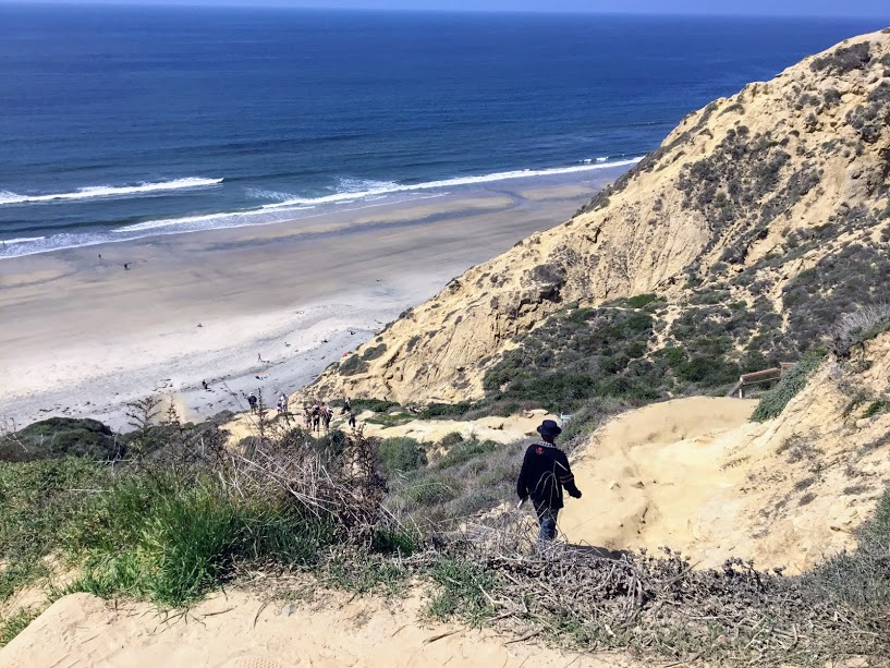 Gliderport Trail Going Down Torrey Pines State Beach
