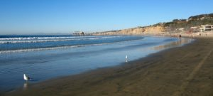 La Jolla Shores Surfing sandy beach waves pier
