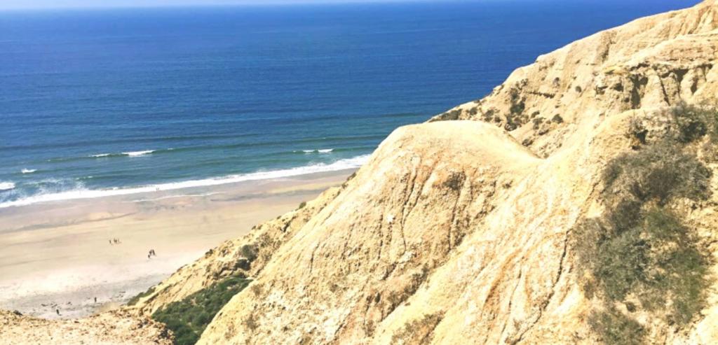 Blacks beach bluff view ocean waters