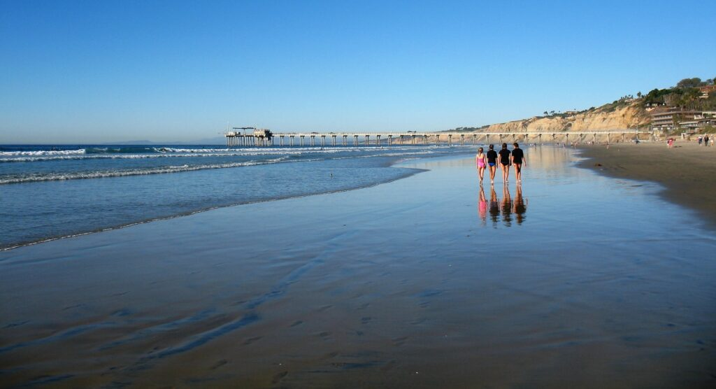 Four Girls on the Beach La Jolla Shores