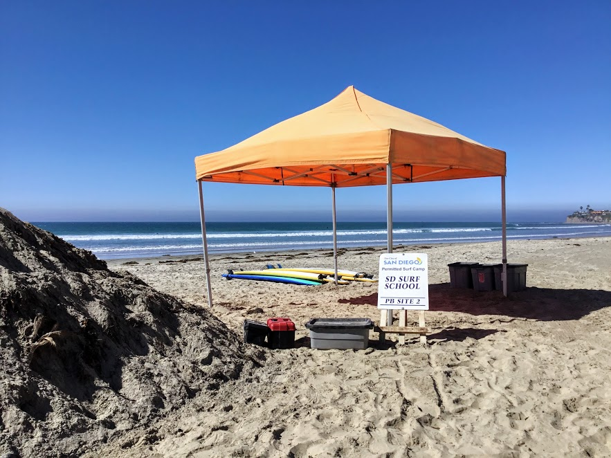 Surf School Tent San Diego Surf Camps