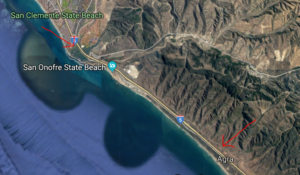 San Onofre State Beach Google Map