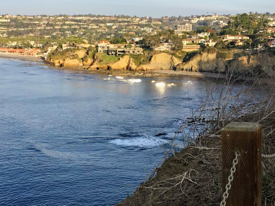la jolla coast walk trail end bluffs ocean